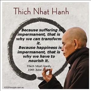 Thay quote 2014 happiness and suffering